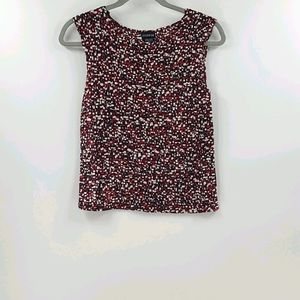 George red black and white stretchy tank top.